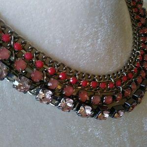Multi Colored Bead & Crystal Choker
